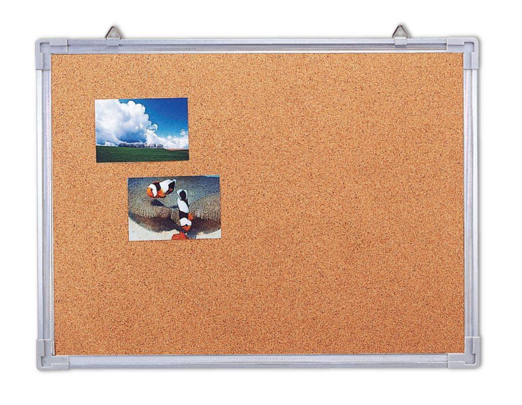 Self-adhesive cork frame notice bulletin board